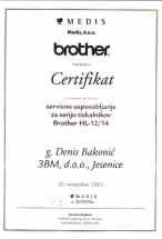 Certifikat Brother.